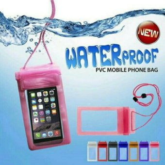 Harga Waterproof Airbag Case PVC mobile Phone Bag - Merah