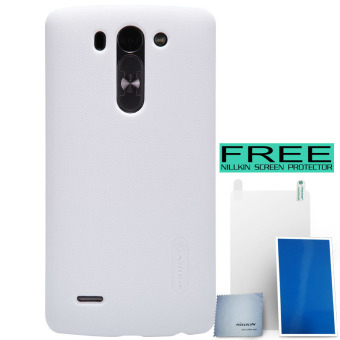 Nillkin LG G3 Beat Super Frosted Shield Hard Case Original - Putih + Free Nillkin Screen Protector