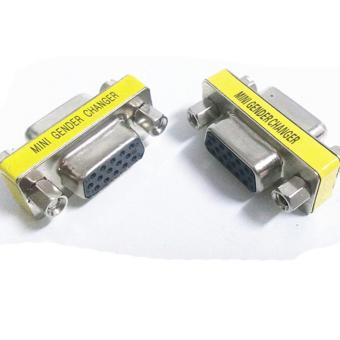 Details about 15 Pin VGA SVGA HD15 Gender Changer Coupler Adapter Converter Male to Male - intl