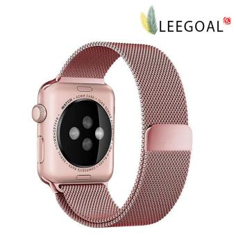 leegoal Magnetic Clasp Mesh Loop Milanese Stainless Steel Replacement Strap For Apple Watch Sport Edition 38mm