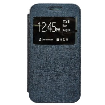 Harga Zagbox Flip Leather Cover untuk Alcatel Flash 2 - Biru Dongker