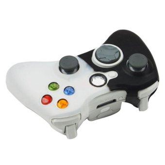 ... Hitam Putih Case Kulit Gel Silikon Lembut Untuk Menutupi Microsoft Xbox360 Kontrol