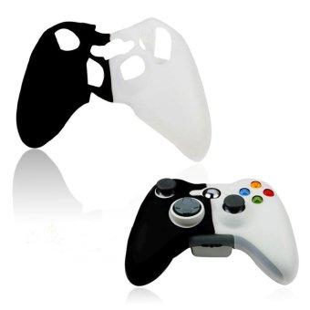 Hitam-Putih Case Kulit Gel Silikon Lembut Untuk Menutupi Microsoft Xbox360 Kontrol .