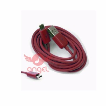 Harga Angel Candy Colour Cable Blackberry 1m Type 02- Micro USB - Merah Maroon