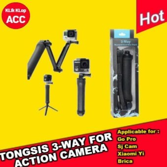 Harga [ New ] Tongsis 3 Way For Go Pro / Sj Cam / Xiaomi Yi / Action Camera / Sport Camera By Klik Klop Acc