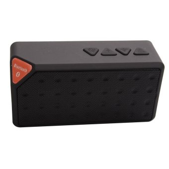 Harga Acediscoball X3 Mini Speaker Bluetooth TF USB FM Wireless Portable Music Sound Box Loudspeaker Subwoofer with Mic (Black)