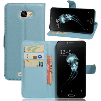 Harga Flip PU Leather Cover Case For Alcatel Flash Plus 2 (Blue) - intl