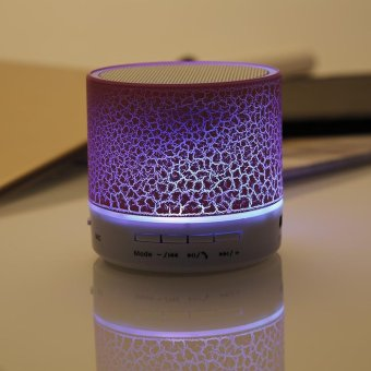 LED MINI Portable Wireless Bluetooth Speaker TF USB Music Sound Subwoofer Box - intl .