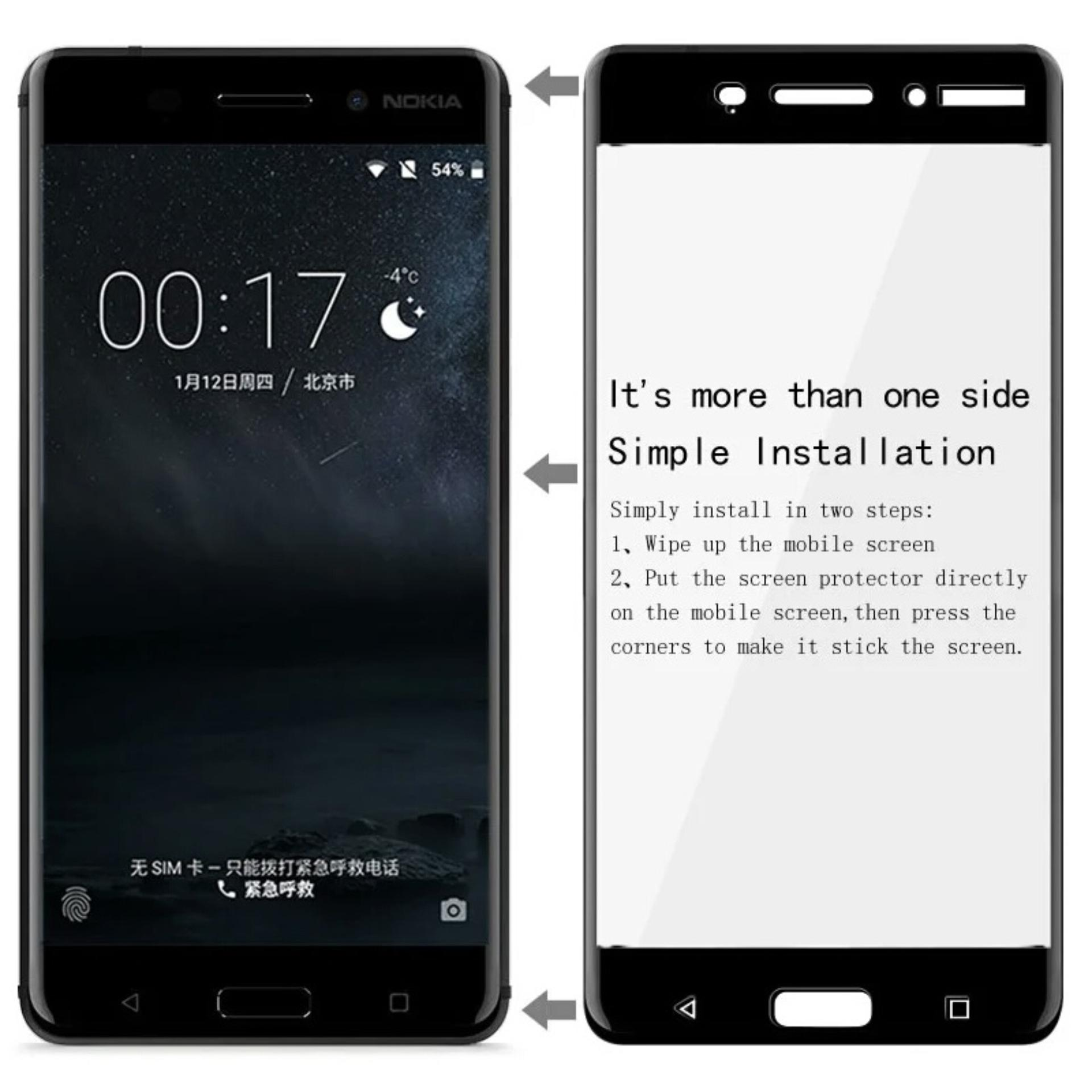 IMAK Nokia 6 3D Full Coverage Tempered Glass Screen Protector (Black) ...