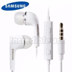 Incredible Headset Samsung Stereo Headset Flat Cable For Samsung Galaxy J5/S4/S5 - Putih