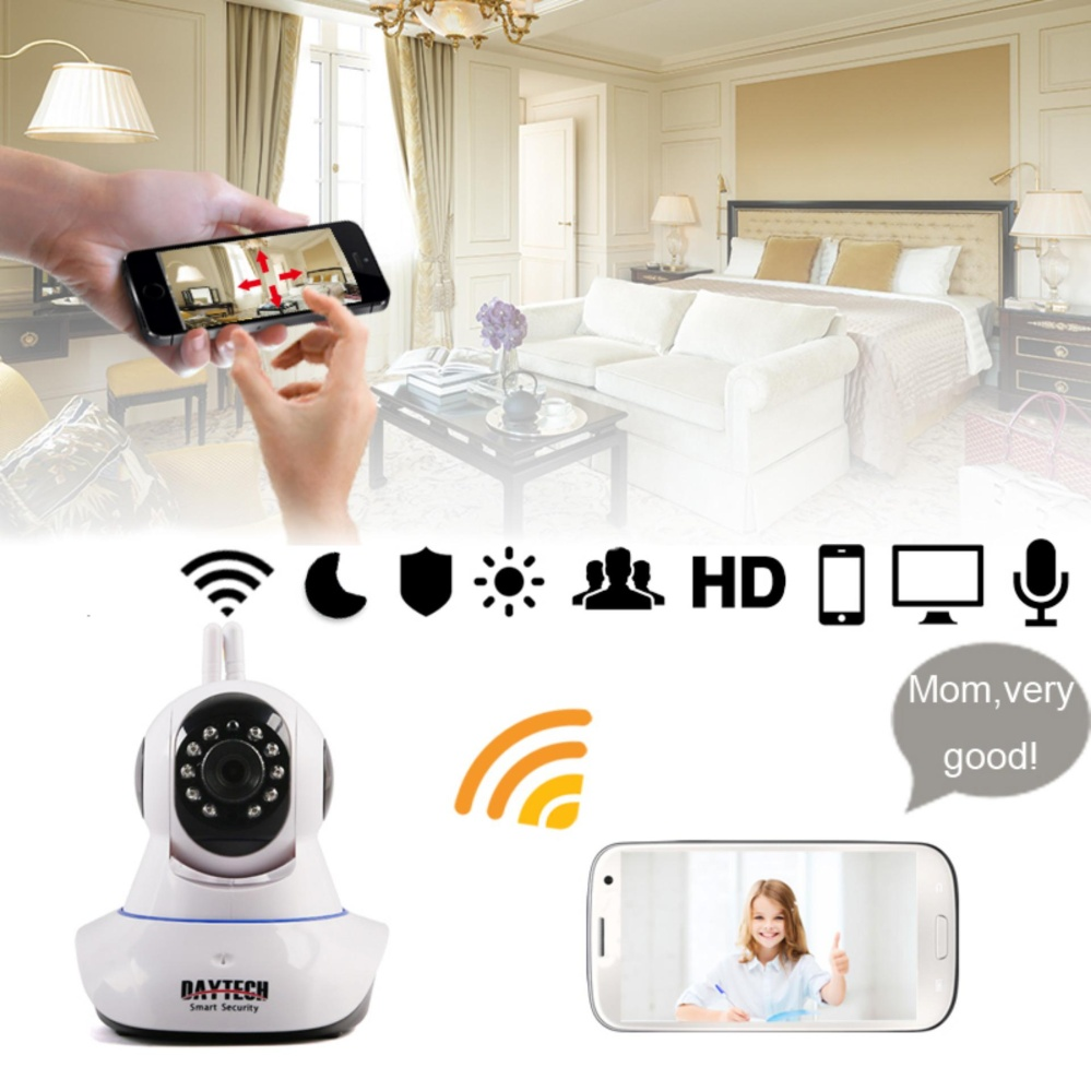Anggaran Terbaik Ip Camera Wireless Home Security Wifi Cctv Spc Smart Dual Antenna 2 Antena 720p Hd Ir Night Vision Network Pan Tilt Two Way Audio