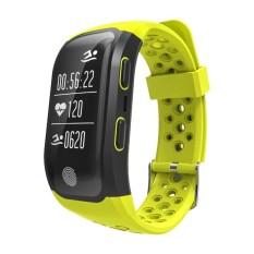 IP68 Tahan Air Bluetooth Smart Gelang dengan Tidur Monitor-Kuning-Intl