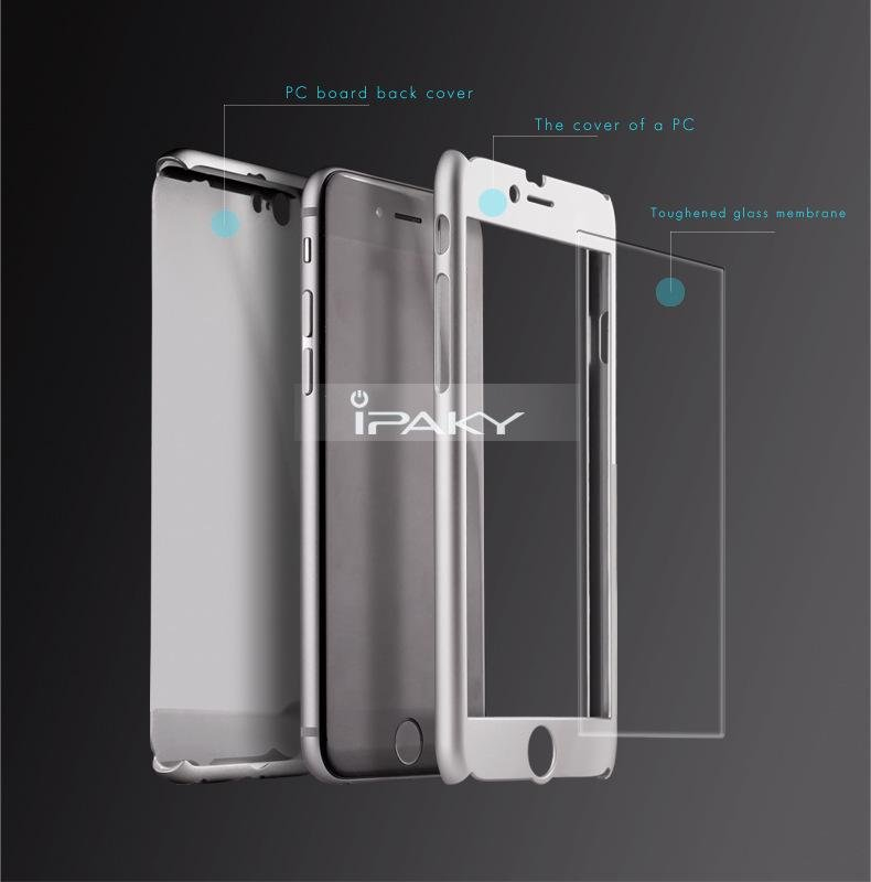 ... IPAKY 360 Degree Full Protection Hard PC Shell Cover + Tempered Glass Original IPAKY Brand For ...