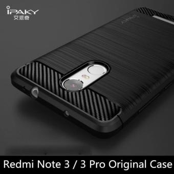 IPAKY For Xiaomi Redmi Note 3 iPaky Carbon Fiber Texture Brushed Soft Silicone case Cover for Xiaomi Redmi Note 3 Pro anti-knock Case-Black