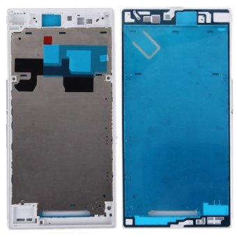 IPartsBuy For Sony Xperia Z Ultra / XL39h / C6802 Front Housing LCDFrame Bezel Plate(White) - intl