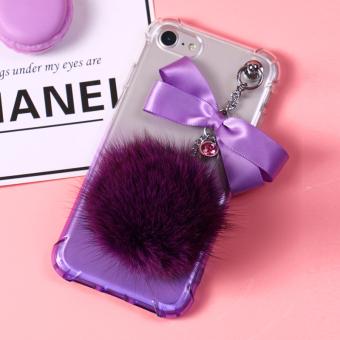 HEMAT Iphone7plus bola rambut tali pendek Apple ID handphone set handphone shell TERLARIS