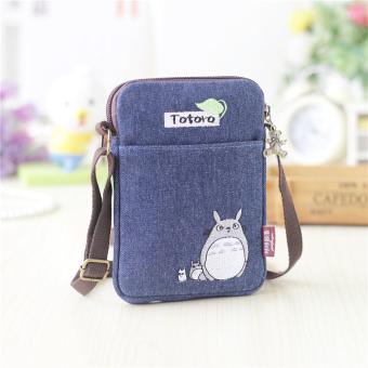 Iphone7plus kecil segar kain layar besar Messenger handphone tas diagonal tas