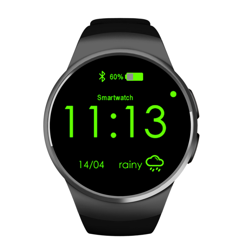 jam tangan pintar Smart Watch Kw18 Heart Rate Monitor Pedometer Clock Smartwatch For iPhone and Android
