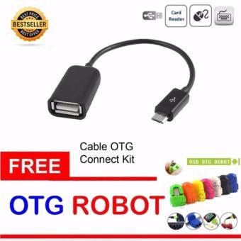 Update Harga JBS OTG Cable Connection Kit Mobile Phone / Kabel OTG – Hitam + Gratis OTG Adapter Micro USB Robot – 1 Pcs (Random Color) IDR7,000.00  di Lazada ID