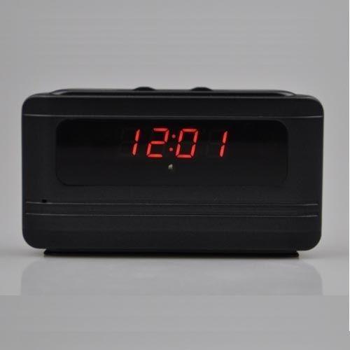 JDM 24hr Hidden Camera Alarm Clock 720P HD Spy Camera MotionDetection Activated Loop Video Recording Remote Control SecurityCamera Nanny Cam - intl