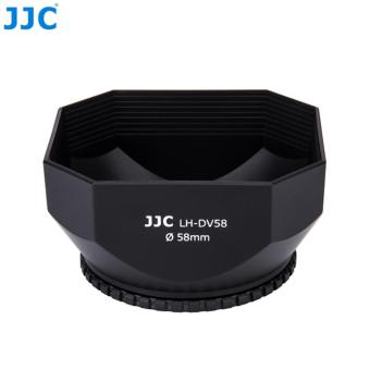 Detail Gambar JJC PRO 58mm Square Camcorder DV Lens Hood + Cap + Keeper for SONYJVC CANON - intl Terkini
