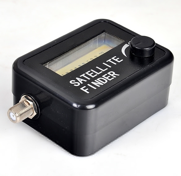 Jo in pencari sinyal satelit meteran untuk duduk piring baru SF 95DR sinyal .