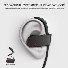 JTS headphone berlari Bluetooth Sport nirkabel Silicone lembut Headset Stereo membatalkan kebisingan dengan Mic suara Bass
