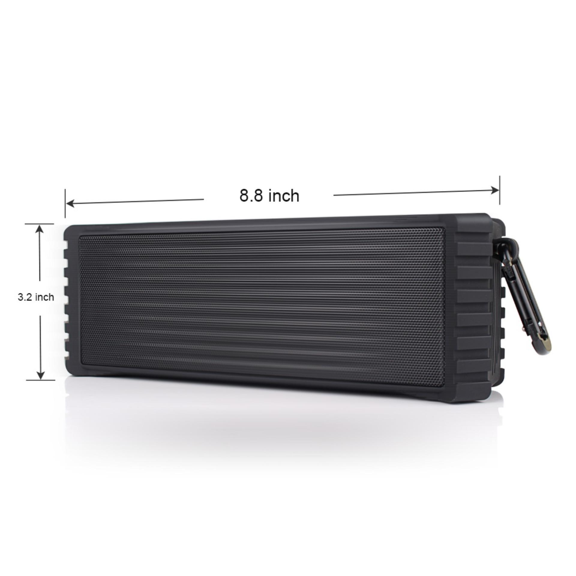 ... JUSHENG ELlight 20W Waterproof Outdoor Speaker,Wireless Bluetooth4.2 Speaker with Passive Radiator, ...