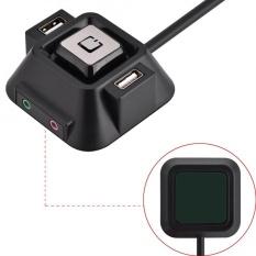 Justgogo Computer Switch Power Reset Button Audio Microphone Port Dual USB Ports