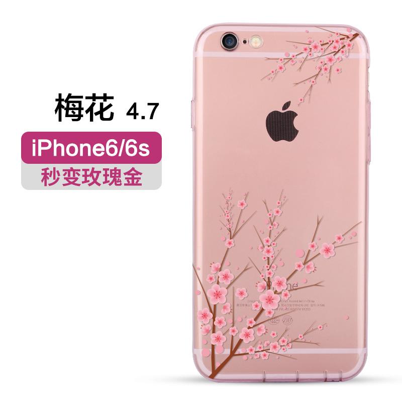 Kadan shi iphone6 kartun silikon transparan apel tpu set ponsel shell