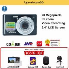 Kamera Digital Pocket Murah - Yashica DC-HV888 Black-Free Aksessories
