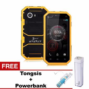 Kenxinda Ken Mobile W6 Pro - 16GB - Tahan Air - Kuning + Free Tongsis + Power Bank