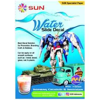 Kertas Decal Transfer Paper - SUN Water Slide Decal Paper White A4
