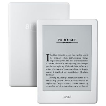 Kindle Amazon 8th Generation Touchscreen Display Ads Version + Accessories (White)
