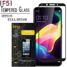 King zu Tempered Glass for OPPO F5 - Anti Gores - Hitam - Rounded Edge 2.5D