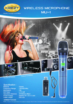 Krezt Wireless Microphone MU-1 (USB Microphone) - 5