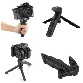 Lbag 2 in 1 Portable Mini Handle Folding Tripod Monopod for DSLR Action Camera Smartphone