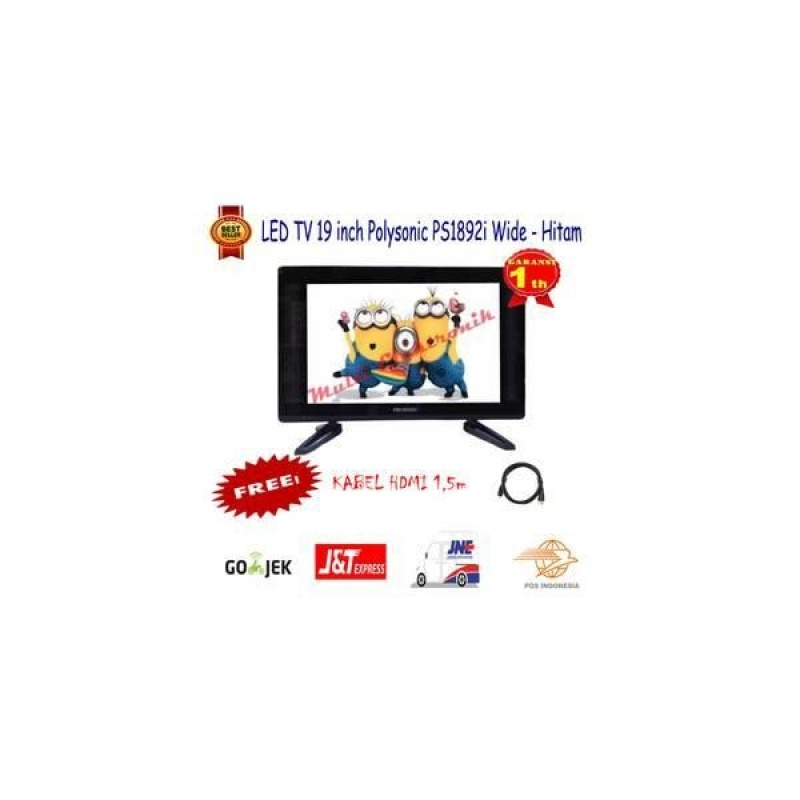 LED TV 19 Inch Polysonic PS-1892 Wide Free HDMI Promo