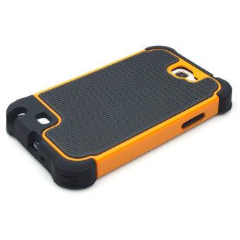 Jual Leegoal jeruk PC hitam silikon Combo dampak tinggi baja penutup Case Untuk Samsung Galaxy Note