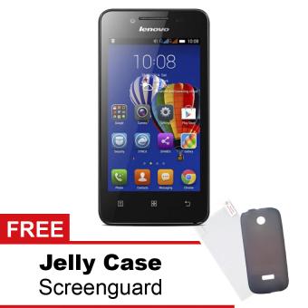 Lenovo A328 - 4GB - Hitam + Gratis Jelly Case - Hitam + Screenguard