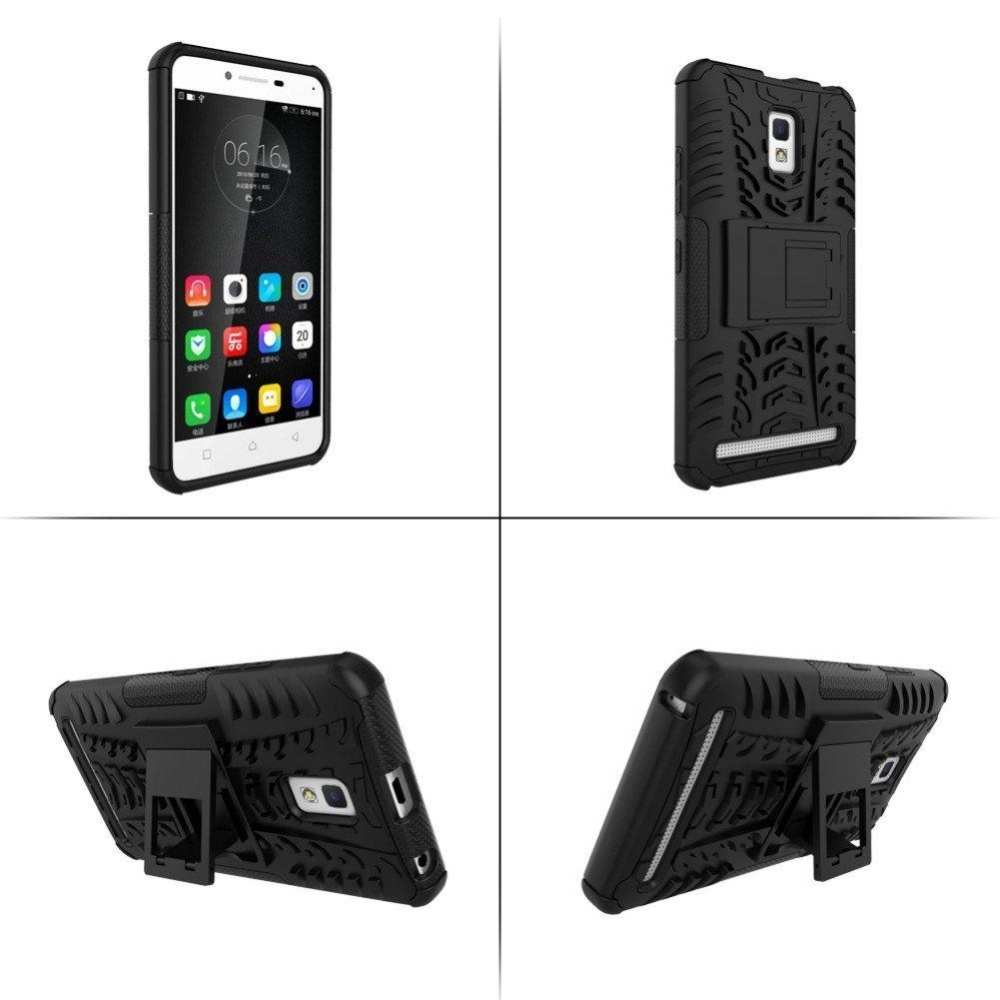 Lenovo A6600 Case Armor Hybrid Rugged Heavy Duty Hard Back Cover Case for .