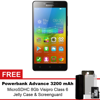 harga Lenovo A7000 - 8GB - Hitam + Gratis Powerbank Advance 3200 mAh + MicroSDHC 8Gb Visipro Class6 + Jellycase + Screenguard Lazada.co.id
