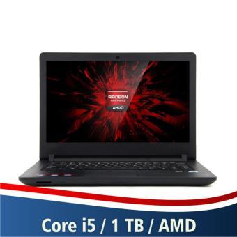 Lenovo Gaming Ideapad 110-14ISK - Core i5-6200U 4GB RAM 1000GB HDD AMD Radeon R5 M430 Layar 14 Inch - Black
