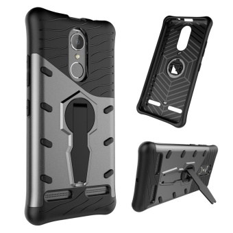 Lenovo K6 Case, Detachable Rotate Stand Holder Protective ShellRubber Hybrid Heavy Duty Bumper Armor Shockproof Case Cover forLENOVO K6/K6 Power cover bags - intl