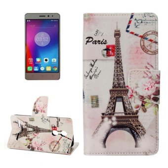 Lenovo K6 / K6 Power Eiffel Tower Pattern Horizontal Flip LeatherCase With Holder and Card Slots and Wallet - intl