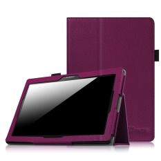 Lenovo TAB 10/Lenovo TAB 2 A10 Case-Premium PU Kulit Folio Cover untuk LENOVO Tab2 A10-70/ Tab2 A10-30/Tab 3 10 Plus/Tab 3 10/TAB-X103F Tab 10, Ungu-Intl
