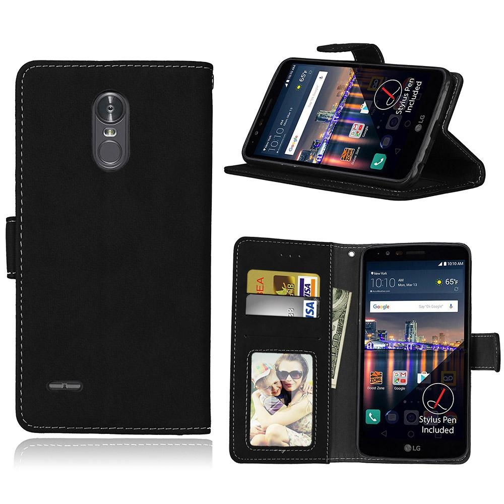 ... LG Stylus 3 / LG Stylo 3 Case, Retro Frosted PU Leather Flip MagnetWallet Stand ...