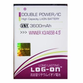 "Log On Baterai Evercoss Winner X3 / A65B 4.5\ - Double Power Battery - 3600 mAh"""