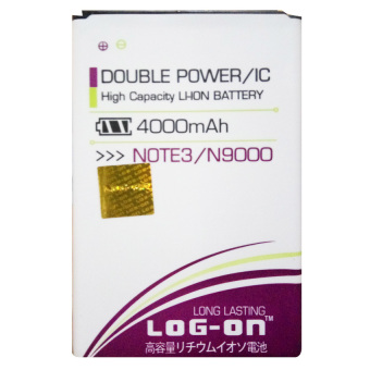 Log On Baterai Samsung Galaxy Note 3 / N9000 - Double Power Battery- 4000 mAh