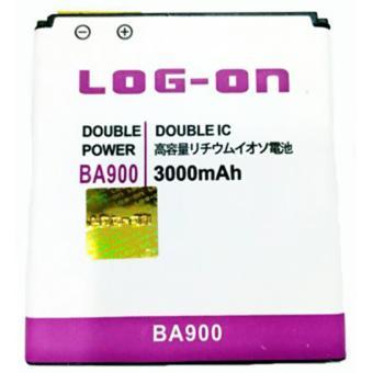 LOG-ON Battery For Sony Xperia J / L/ M / TX/ E1 / BA900 3000mAh -Double Power & IC Battery - Garansi 6 Bulan